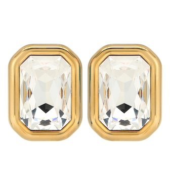Balenciaga - Dallas XL crystal clip-on earrings - mytheresa.com