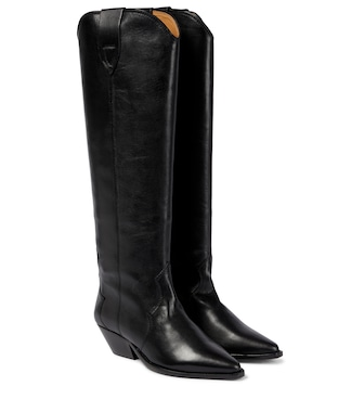 Isabel Marant - Denvee leather knee-high boots - mytheresa.com