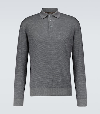 Loro Piana - Knitted long-sleeved polo shirt - mytheresa.com