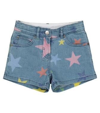 Stella McCartney Kids - Star-print denim shorts - mytheresa.com