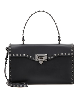 Valentino - Valentino Garavani Rockstud Medium leather shoulder bag - mytheresa.com
