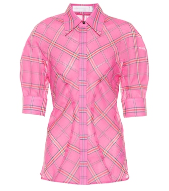 Victoria Victoria Beckham - Checked cotton and silk shirt - mytheresa.com