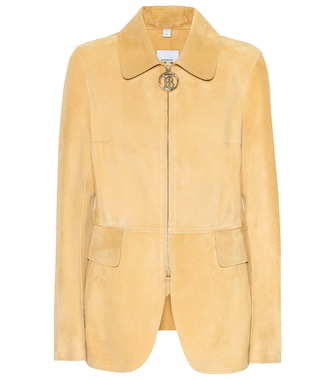 Burberry - Monogram suede riding jacket - mytheresa.com
