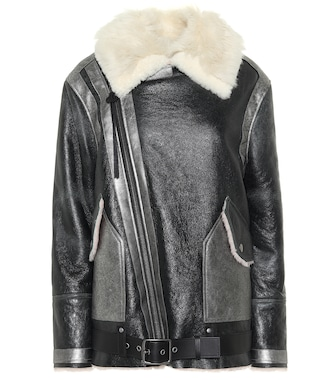 Coach - Shearling leather jacket - mytheresa.com