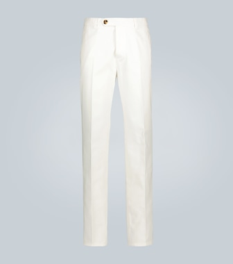 Brunello Cucinelli - Relaxed-fit cotton-twill pants - mytheresa.com