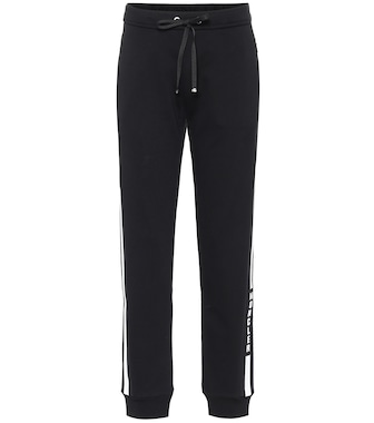 Moncler - Logo cotton-blend trackpants - mytheresa.com