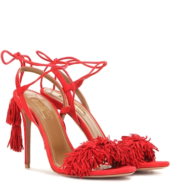 Aquazzura - Wild Thing 105 suede sandals - mytheresa.com