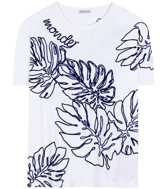 Moncler - Embroidered T-shirt - mytheresa.com
