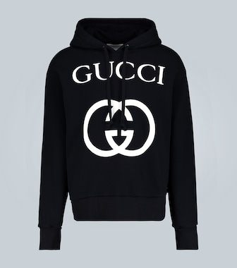 Gucci - Hooded sweatshirt with interlocking G - mytheresa.com