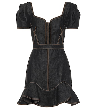 Alexander McQueen - Denim minidress - mytheresa.com