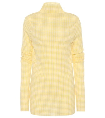 Jil Sander - Plaid cotton-blend top - mytheresa.com