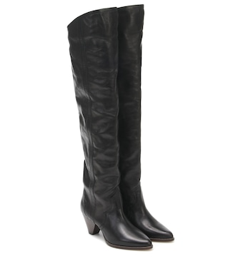 Isabel Marant - Remko leather over-the-knee boots - mytheresa.com