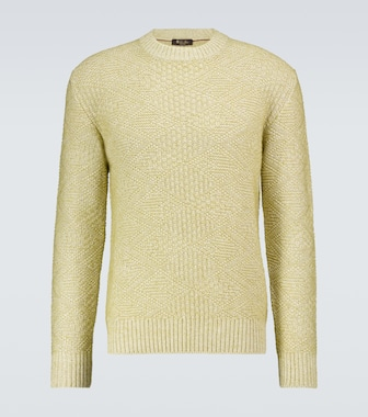 Loro Piana - Oakwood linen crewneck sweater - mytheresa.com