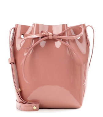 Mansur Gavriel - Bucket-Bag Mini Mini aus Lackleder - mytheresa.com