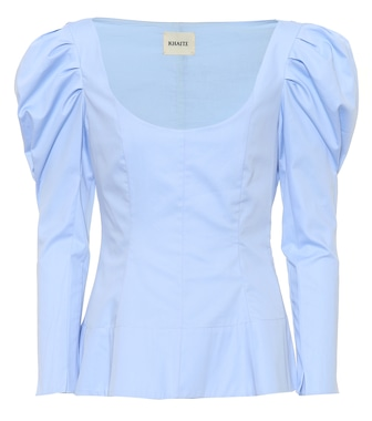 Khaite - Nina cotton poplin top - mytheresa.com
