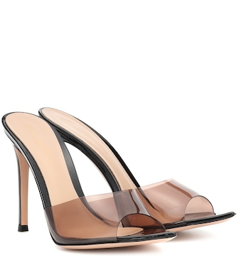 Gianvito Rossi - Plexi 105 leather mules - mytheresa.com