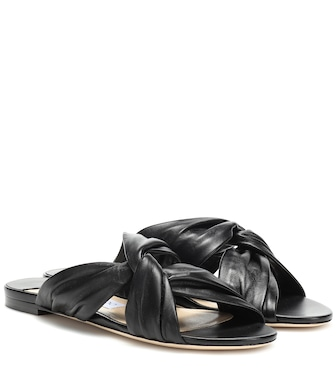 Jimmy Choo - Lela leather slides - mytheresa.com