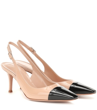 Gianvito Rossi - Lucy 70 leather slingback pumps - mytheresa.com