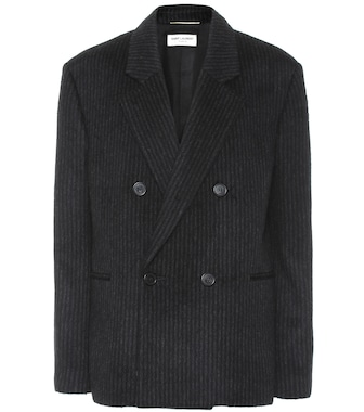 Saint Laurent - Striped wool and cashmere blazer - mytheresa.com