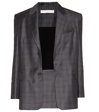 Balenciaga - Plaid wool jacket - mytheresa.com