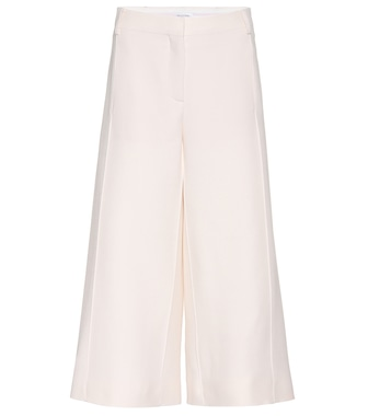 Valentino - Cropped virgin wool and silk trousers - mytheresa.com