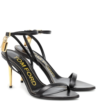 Tom Ford - Padlock leather sandals - mytheresa.com