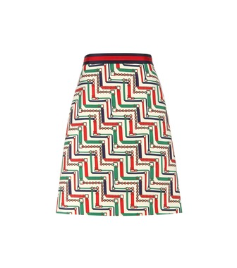 Gucci - Silk and wool skirt - mytheresa.com