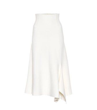 Dorothee Schumacher - Poetic Drape wool-blend skirt - mytheresa.com