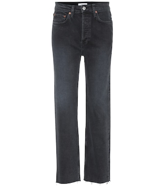 Re/Done - High-Rise Straight Jeans Stovepipe - mytheresa.com