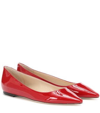 Jimmy Choo - Romy patent leather ballet flats - mytheresa.com