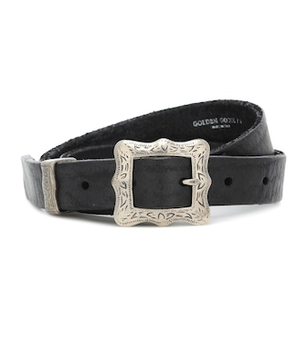 Golden Goose - Frame leather belt - mytheresa.com