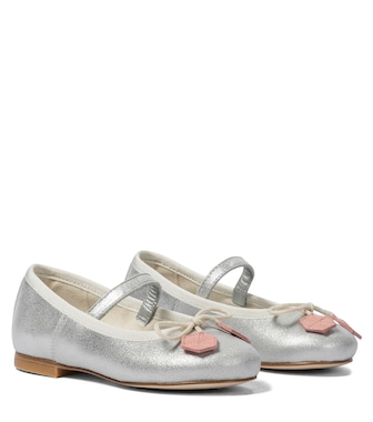 Bonpoint - Metallic leather ballet flats - mytheresa.com