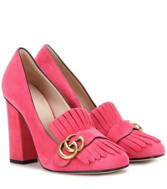 Gucci - Suede loafer pumps - mytheresa.com