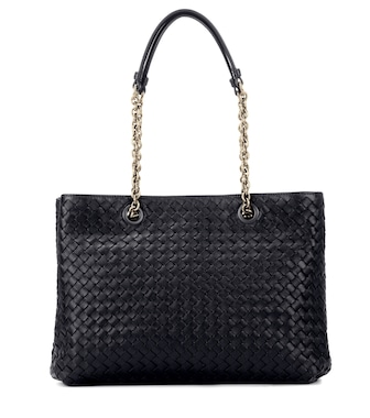 Bottega Veneta - Intrecciato leather shoulder bag - mytheresa.com