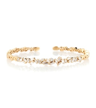 Suzanne Kalan - Fireworks 18kt gold and diamond bangle - mytheresa.com