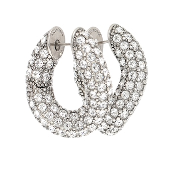 Balenciaga - Loop embellished hoop earrings - mytheresa.com