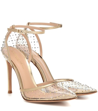 Gianvito Rossi - PVC and metallic leather pumps - mytheresa.com