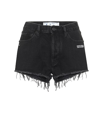Off-White - Mid rise denim shorts - mytheresa.com