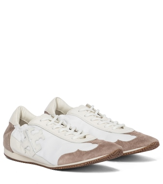 Tory Burch - Vintage suede-trimmed sneakers - mytheresa.com