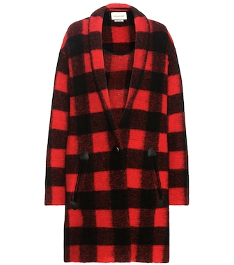 Isabel Marant, Étoile - Gabrie check wool-blend coat - mytheresa.com