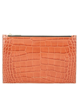 Victoria Beckham - Small Simple embossed leather clutch - mytheresa.com