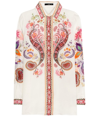 Etro - Printed silk and cotton shirt - mytheresa.com