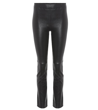 Stouls - Maria Rosa cropped leather trousers - mytheresa.com
