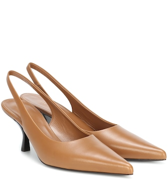 The Row - Bourgeoisie leather slingback pumps - mytheresa.com