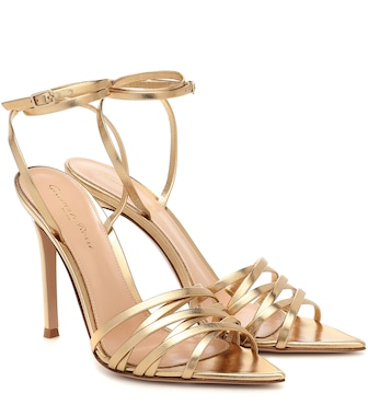 Gianvito Rossi - Lita 105 metallic leather sandals - mytheresa.com