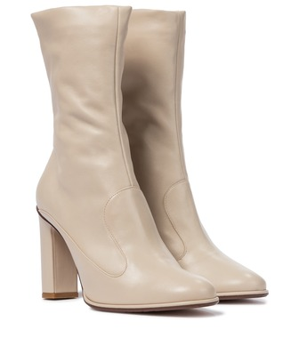 Max Mara - Adela leather ankle boots - mytheresa.com
