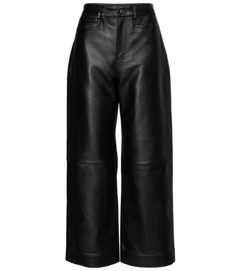 Proenza Schouler - High-rise leather pants - mytheresa.com