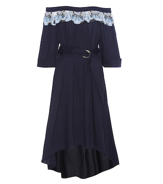 Peter Pilotto - Lace-trimmed cotton-blend dress - mytheresa.com