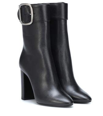 Saint Laurent - Joplin 105 leather ankle boots - mytheresa.com