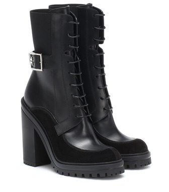 Givenchy - Aviator leather ankle boots - mytheresa.com